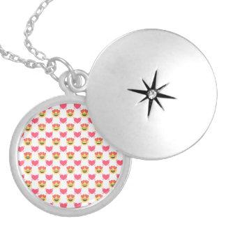Leuk Snoepje in Liefde Emoji, het patroon van Zilver Vergulden Ketting