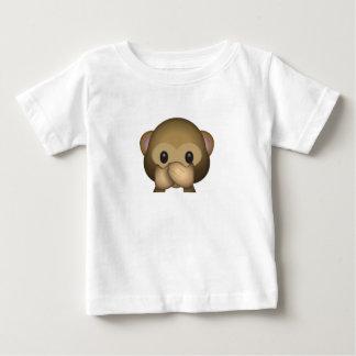 Leuk spreek Geen Kwade Aap Emoji Baby T Shirts