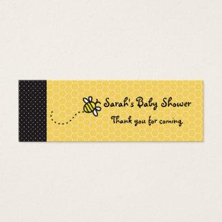 Leuk stuntel Bijen danken u etiketteert Mini Visitekaartjes