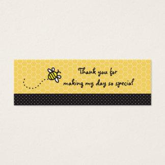 Leuk stuntel het Baby shower van Bijen danken u Mini Visitekaartjes