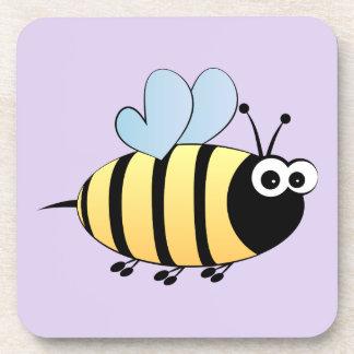 Leuk stuntel het paarse kind van de bijencartoon drankjes onderzetter