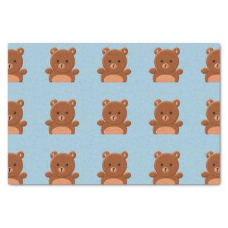 Leuk teddybeerpapieren zakdoekje 25,4 x 38,1 cm zijdepapier