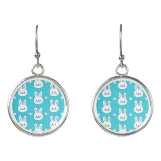 Leuk turkoois wit Pasen konijntjes eenvoudig