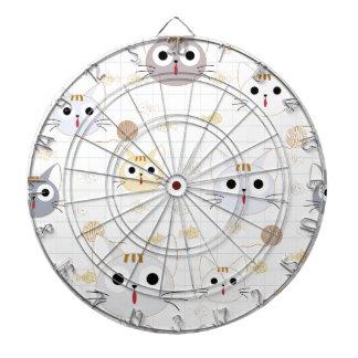 Leuk van het de kattenkat van het cartoonbaby dartbord