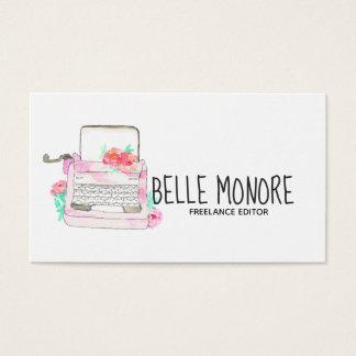 Leuk vintage schrijfmachine roze visitekaartje visitekaartjes