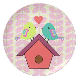 Leuk vogels nieuw huis melamine+bord