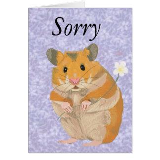 Leuk weinig Hamster die een bloem houden Kaart