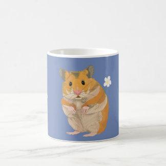 Leuk weinig Hamster die een bloem houden Koffiemok