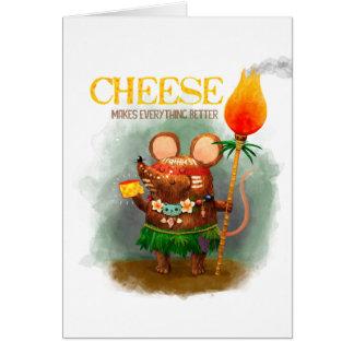 Leuk Weinig Muis van het Hol en zijn Kaas Briefkaarten 0