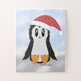 Leuk Weinig Raadsel van de Pinguïn van Kerstmis Legpuzzel