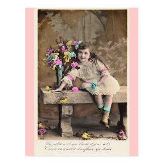 Leuk Weinig Victoriaans Frans briefkaart van het