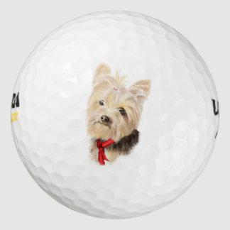 Leuk Weinig Waterverf Yorkie Yorkshire Terrier Golfballen