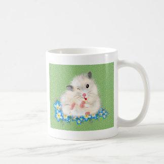 Leuk wit Syrisch hamsteraccessoire, groene polka Koffiemok