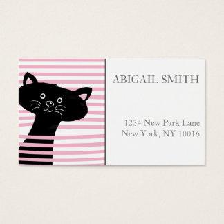 Leuk Zwart Kat Gepersonaliseerd Visitekaartje Visitekaartjes