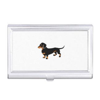 Leuk Zwart weinig en Tan Tekkel - Hond Doxie Visitekaarthouder