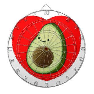 Leuke Avocado in Rood Hart Dartbord
