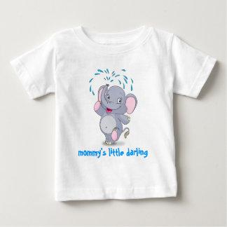 Leuke babyolifant met weinig schat van de mama baby t shirts