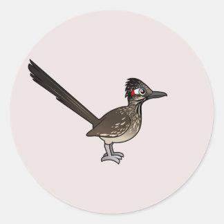 Leuke Birdorable Roadrunner Ronde Sticker