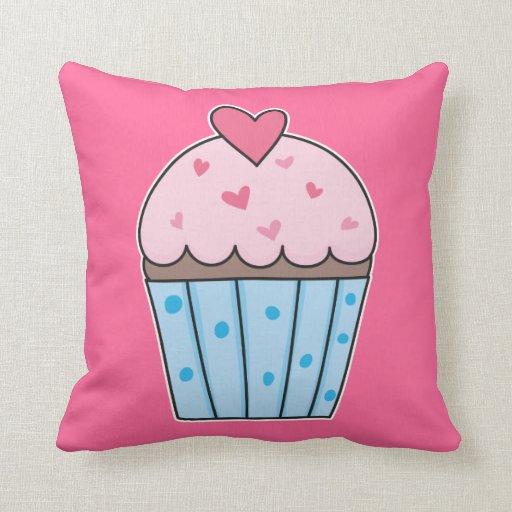 Leuke blauw roze cupcake decoratie kussens zazzle for Decoratie cupcakes