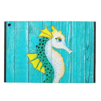 Leuke Blauwgroen Plattelander Seahorse iPad Air Hoesje