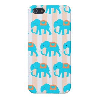 Leuke Blauwgroen Turkooise Blauwe Olifanten op de iPhone 5 Case