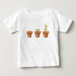 Leuke Bloempot Baby T Shirts
