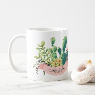 Leuke Boho Gepersonaliseerde Cactus Koffiemok