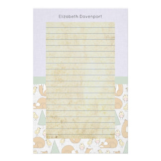 Leuke Bos Dierlijke Schepselen met Gevoerd Briefpapier