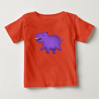 Leuke cartoon het glimlachen hippo baby t shirts