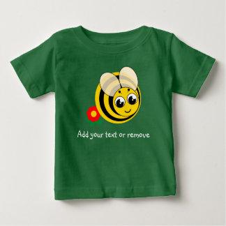 Leuke cartoon zwarte en gele gestreepte hommel, baby t shirts