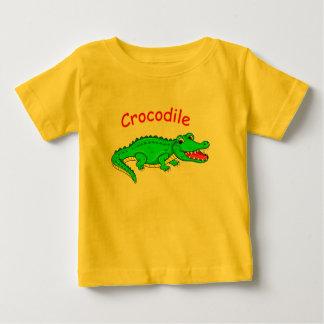 Leuke cartoonkrokodil baby t shirts
