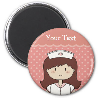 Leuke cartoonverpleegster (brunette) magneet