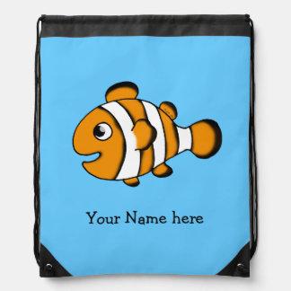 leuke clownvissen - voeg enkel naam toe trekkoord rugzakje