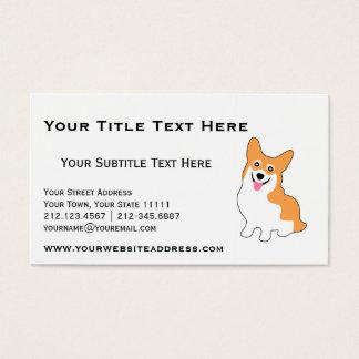 Leuke Corgi voor Kweker, de Trainer van de Hond, Visitekaartjes