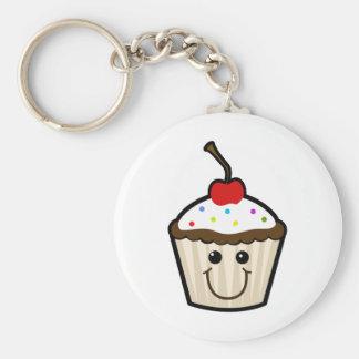 Leuke Cupcake Basic Ronde Button Sleutelhanger
