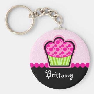 Leuke Cupcake Gepersonaliseerde Keychain Sleutelhangers