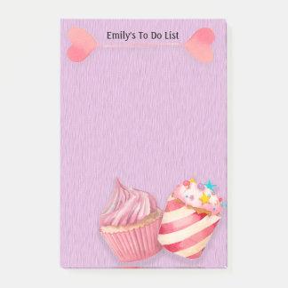Leuke Cupcakes en Lollys op Paars Lijst te doen Post-it® Notes