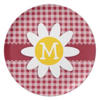 Leuke Daisy op de Rode Gingang van het Karmijn; Ge Melamine+bord