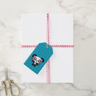 Leuke de giftlabels van de Panda Cadeaulabel