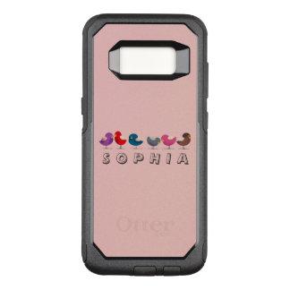Leuke de Vogels van de cartoon Weinig Grappige OtterBox Commuter Samsung Galaxy S8 Hoesje