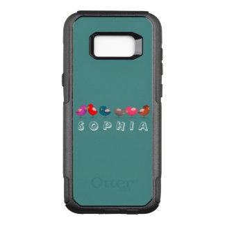 Leuke de Vogels van de cartoon Weinig Grappige OtterBox Commuter Samsung Galaxy S8+ Hoesje