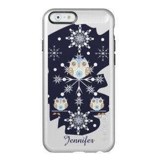 Leuke de winterUilen en Sneeuwvlokken Incipio Feather® Shine iPhone 6 Hoesje