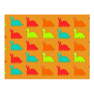 Leuke Dino Pattern Walking Dinosaurs Briefkaart