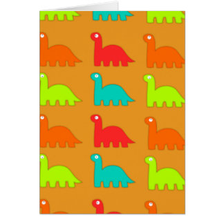 Leuke Dino Pattern Walking Dinosaurs Notitiekaart