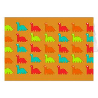 Leuke Dino Pattern Walking Dinosaurs Notitiekaart