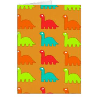 Leuke Dino Pattern Walking Dinosaurs Wenskaart