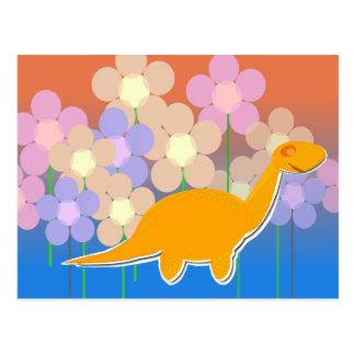 Leuke Dinosaurus in het Briefkaart van het Gebied