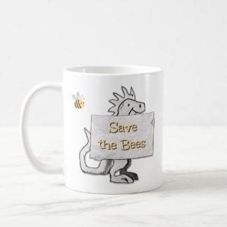 Leuke Dinosaurus met sparen het teken van Bijen Koffiemok