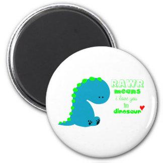 Leuke Dinosaurus RAWR Koelkast Magneet