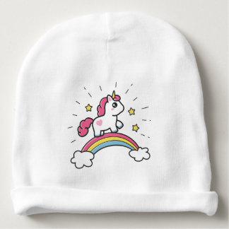 Leuke Eenhoorn op een Ontwerp van de Regenboog Baby Mutsje